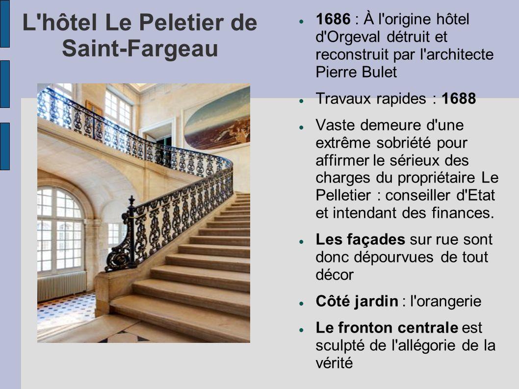 L hôtel Le Peletier de Saint-Fargeau