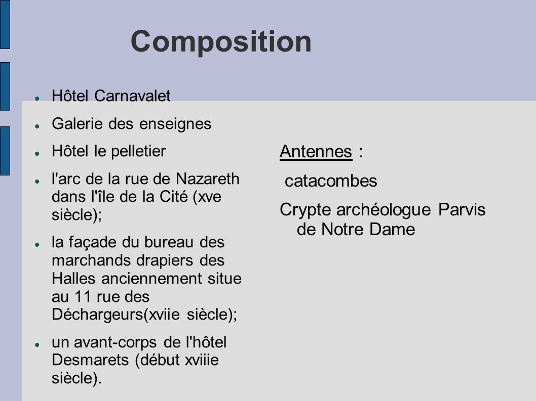 Composition Antennes : catacombes