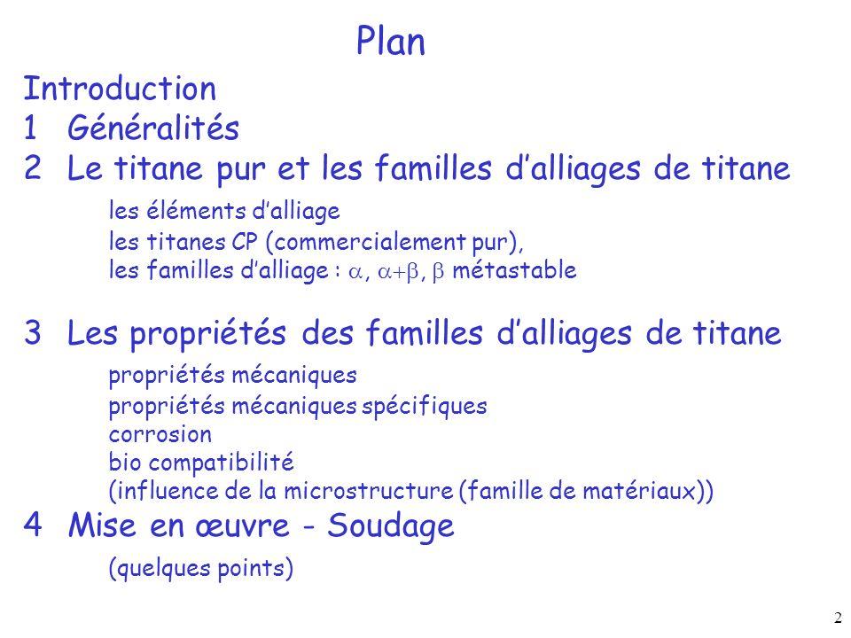 Plan Introduction 1 Généralités