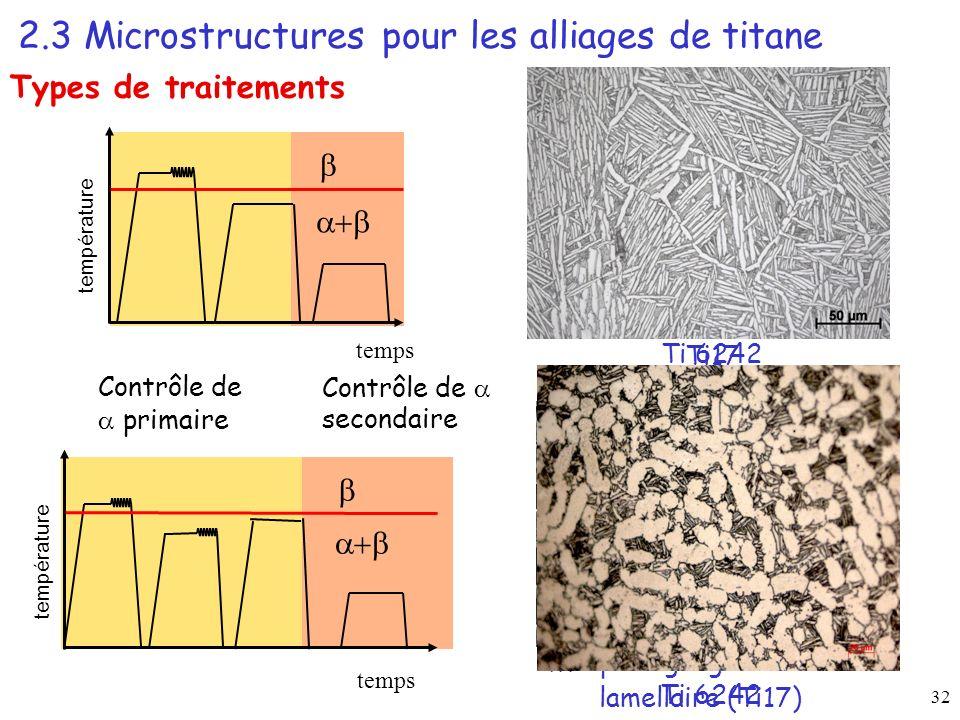 Morphologie globulaire + lamellaire (Ti17)