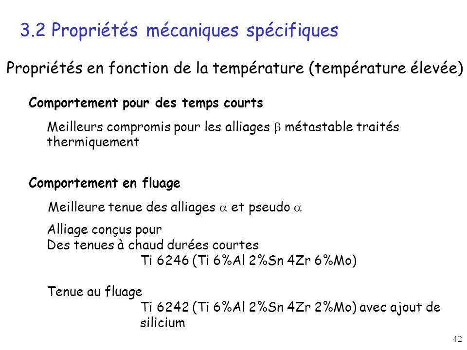 3.2 Propriétés mécaniques spécifiques