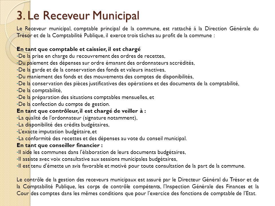 3. Le Receveur Municipal