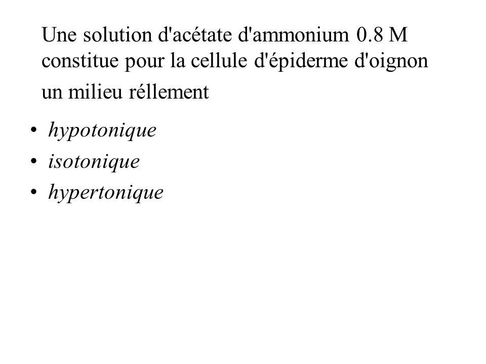 Une solution d acétate d ammonium 0