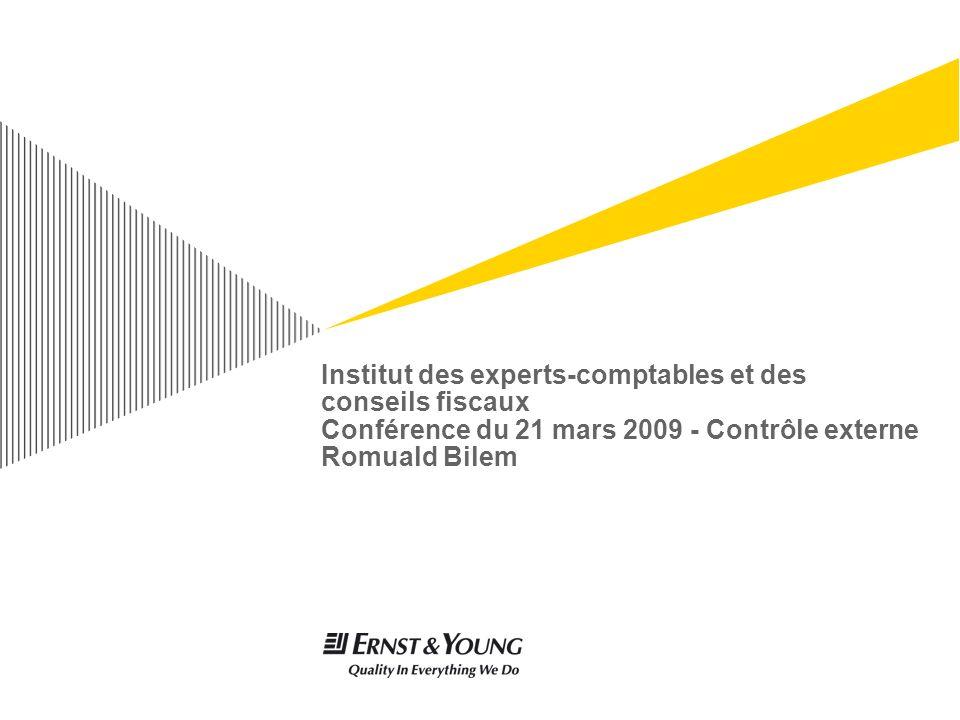 Institut des experts-comptables et des conseils fiscaux Conférence du 21 mars 2009 - Contrôle externe Romuald Bilem