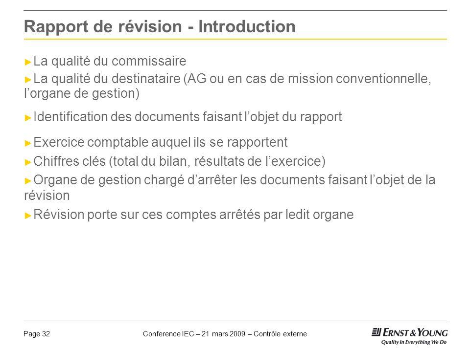 Rapport de révision - Introduction