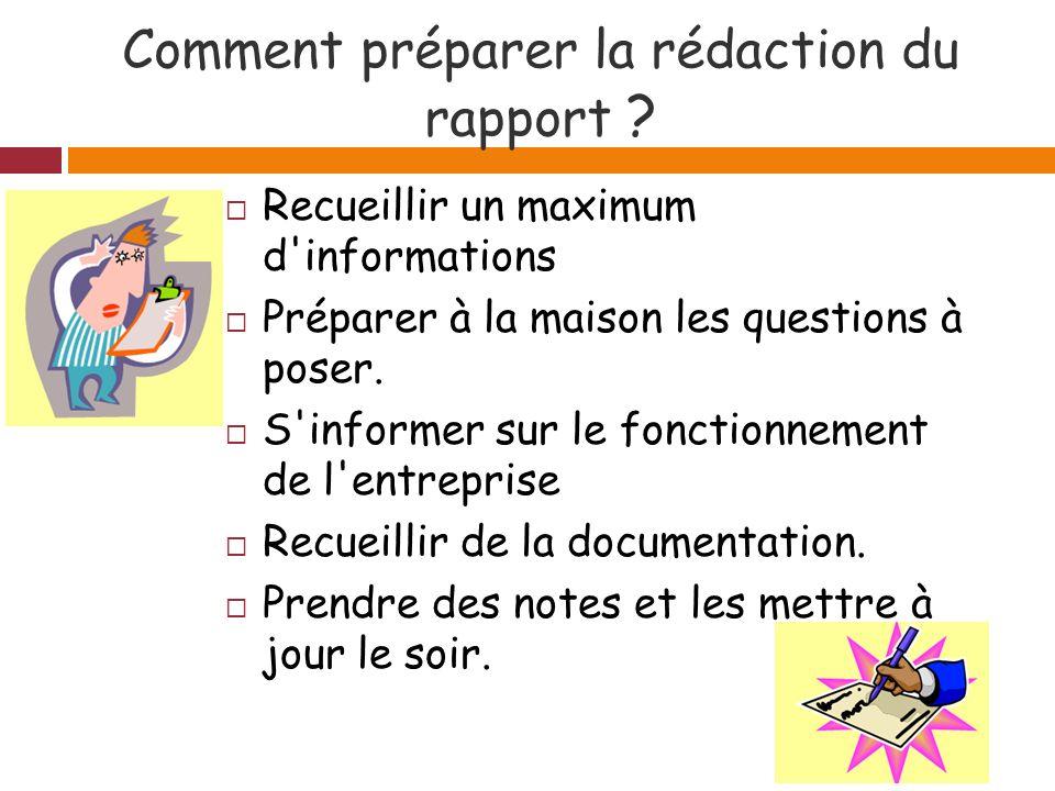 Comment préparer la rédaction du rapport