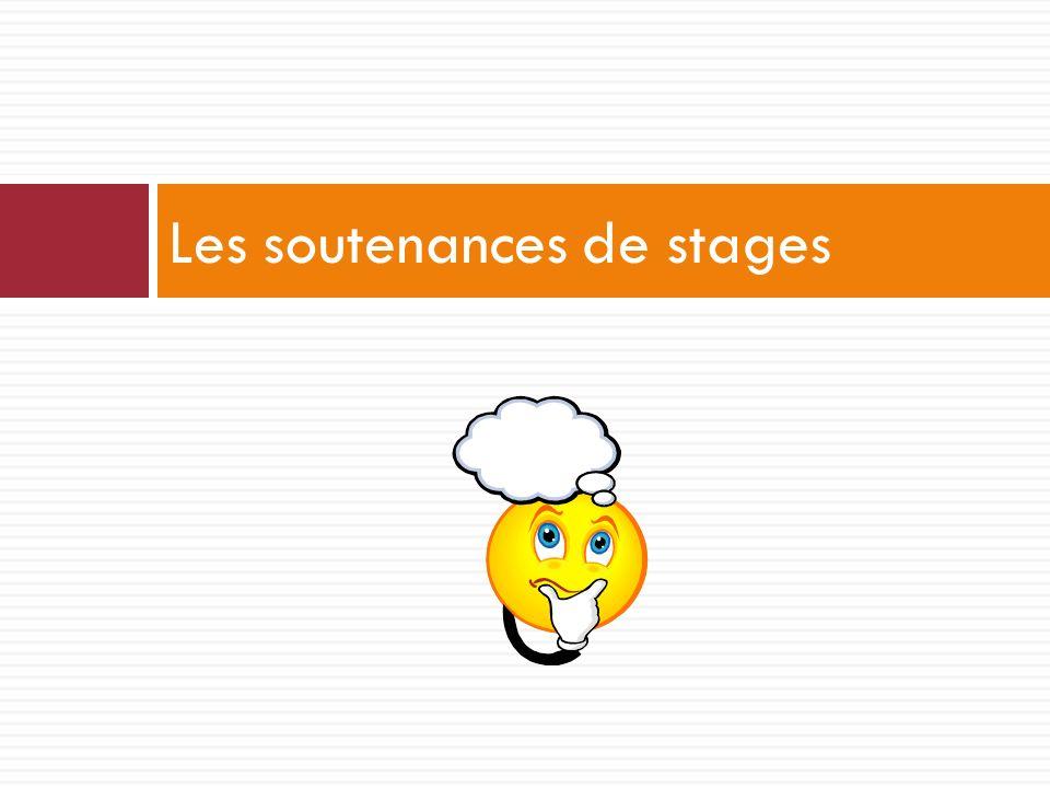 Les soutenances de stages