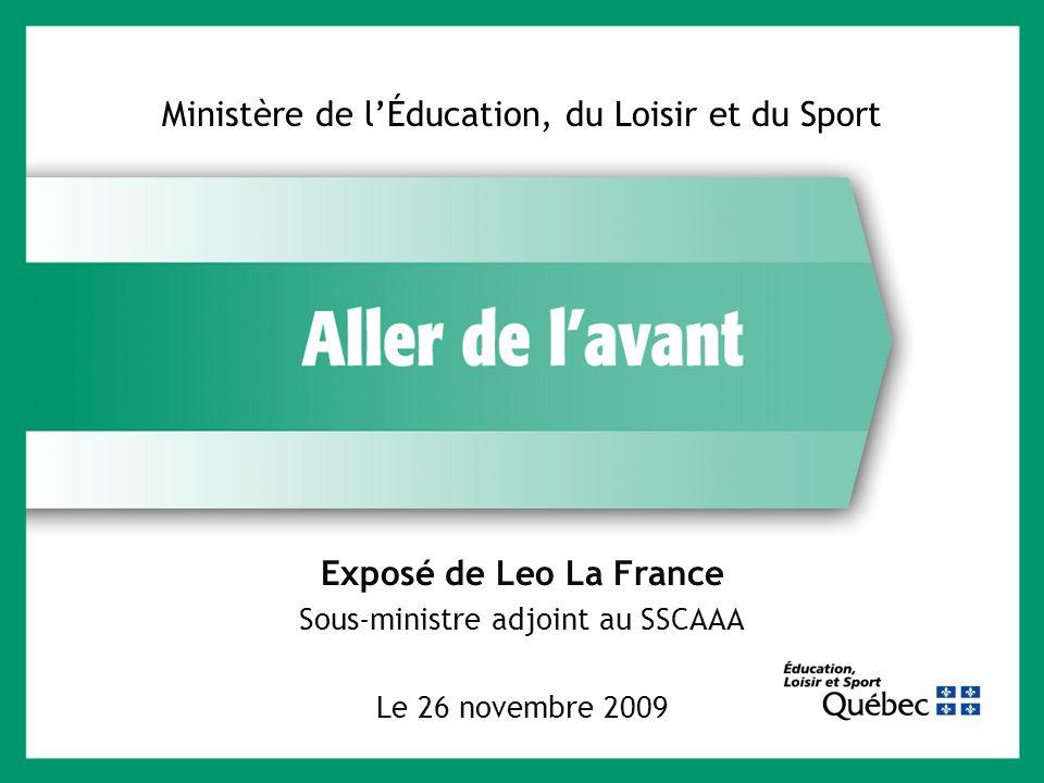 Ministère de l'Éducation, du Loisir et du Sport