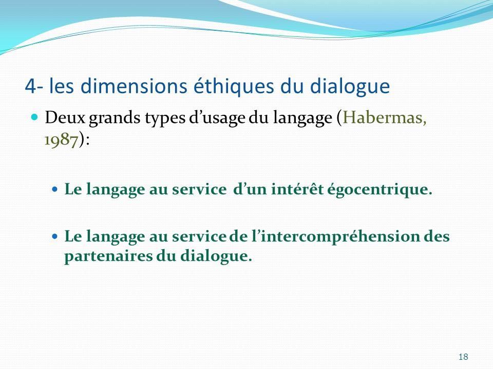 4- les dimensions éthiques du dialogue