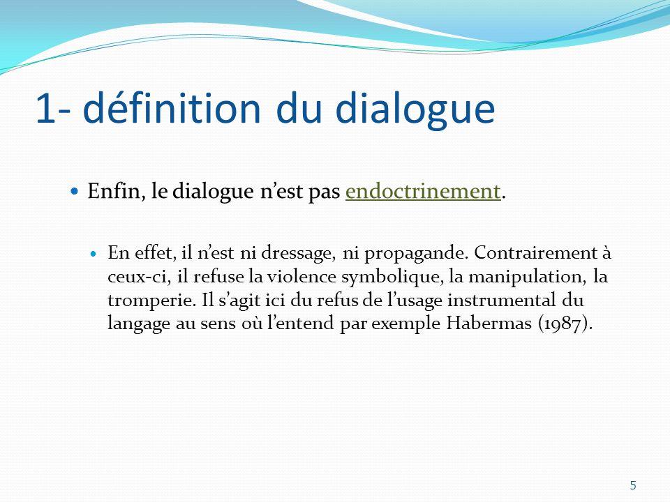 1- définition du dialogue
