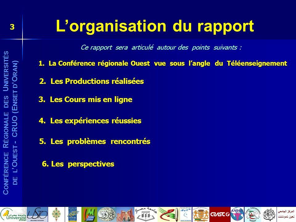L'organisation du rapport