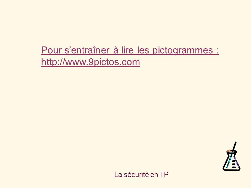 Pour s'entraîner à lire les pictogrammes : http://www.9pictos.com