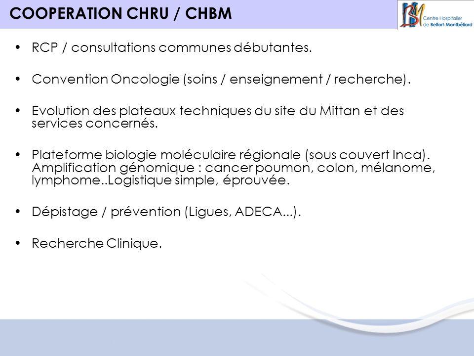 COOPERATION CHRU / CHBM