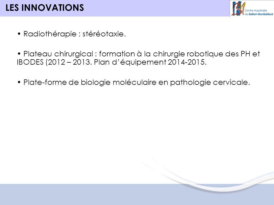 LES INNOVATIONS Radiothérapie : stéréotaxie.