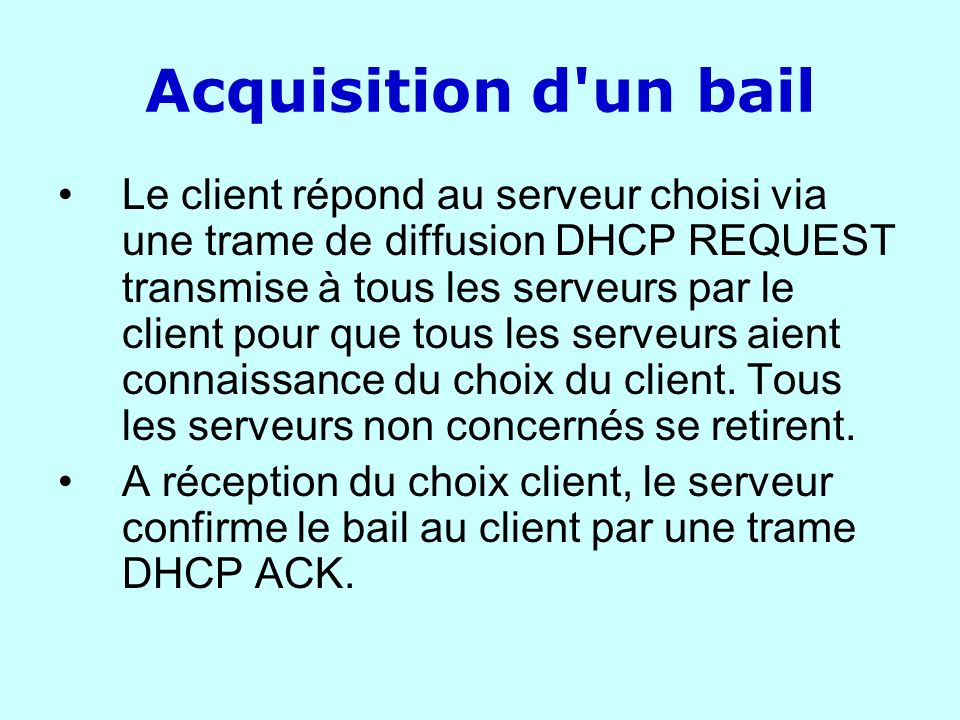 Acquisition d un bail