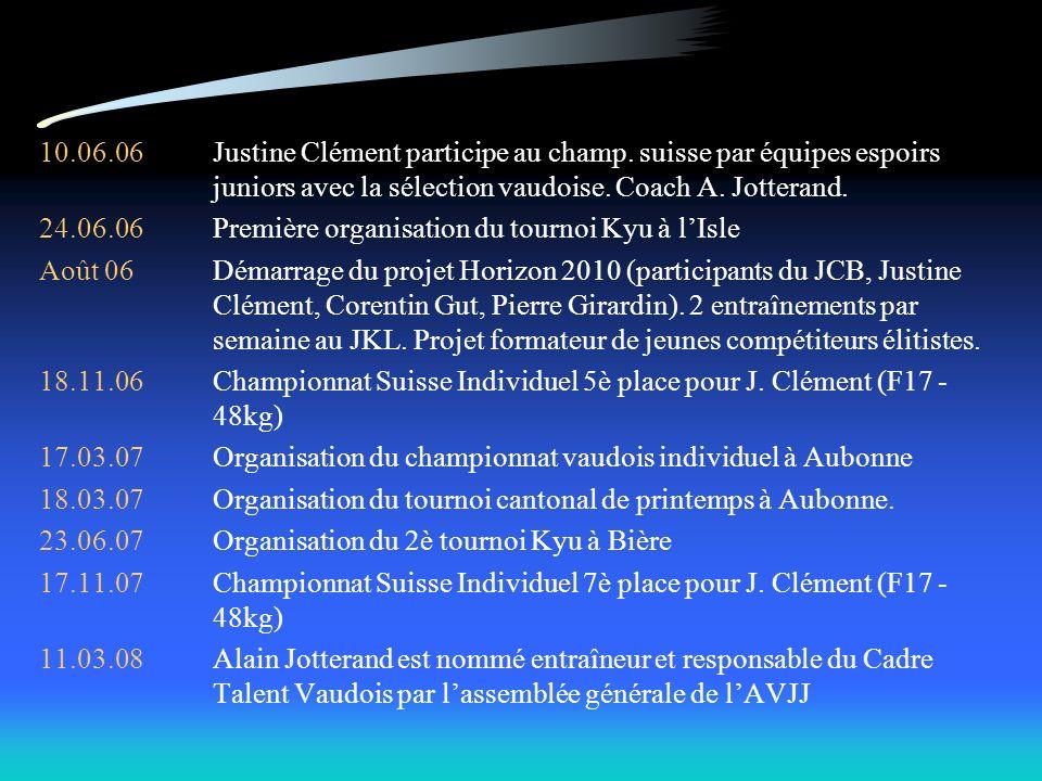 10. 06. 06. Justine Clément participe au champ