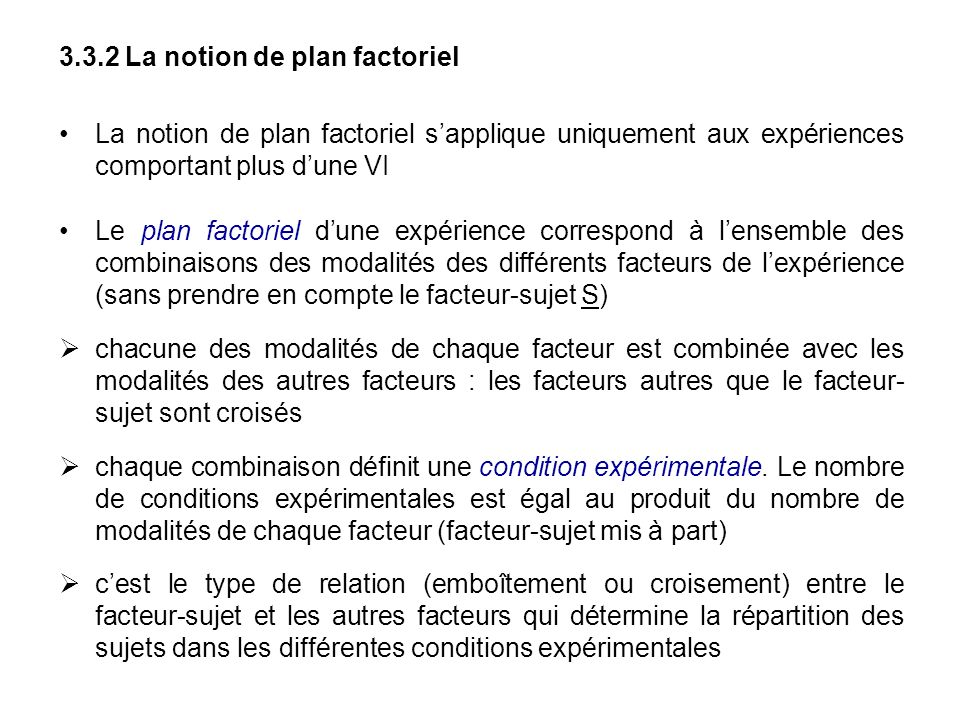 3.3.2 La notion de plan factoriel
