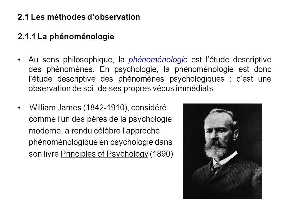 2.1 Les méthodes d'observation
