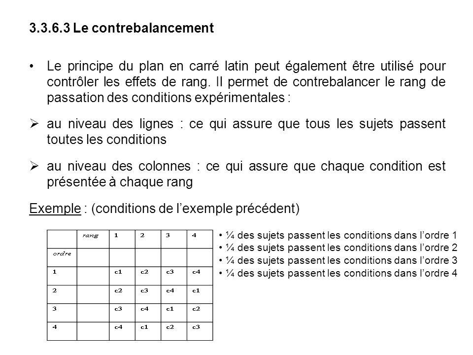 Exemple : (conditions de l'exemple précédent)
