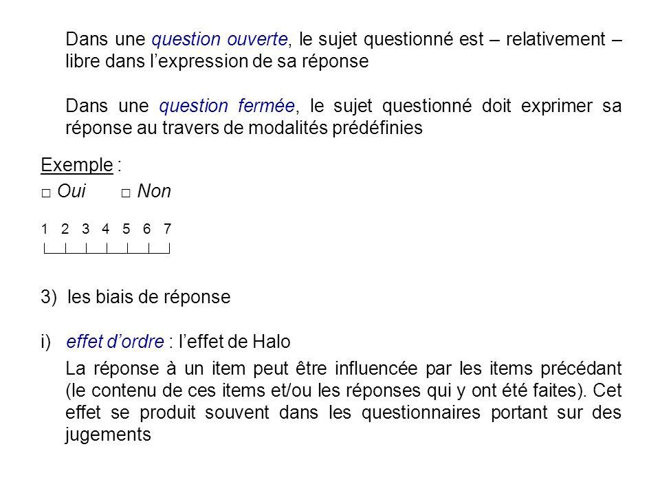 i) effet d'ordre : l'effet de Halo