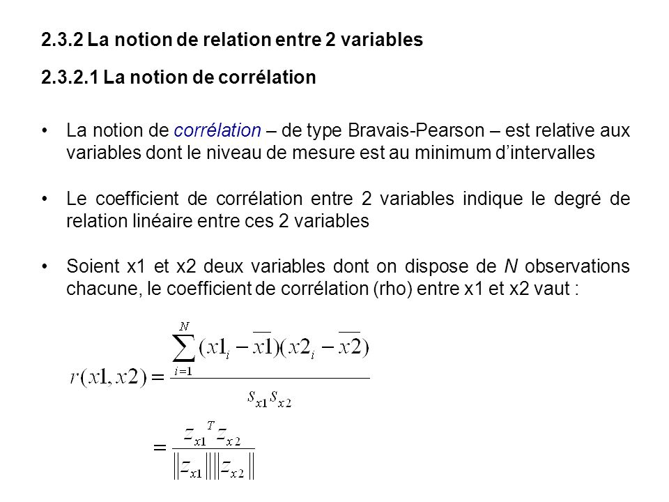 2.3.2 La notion de relation entre 2 variables