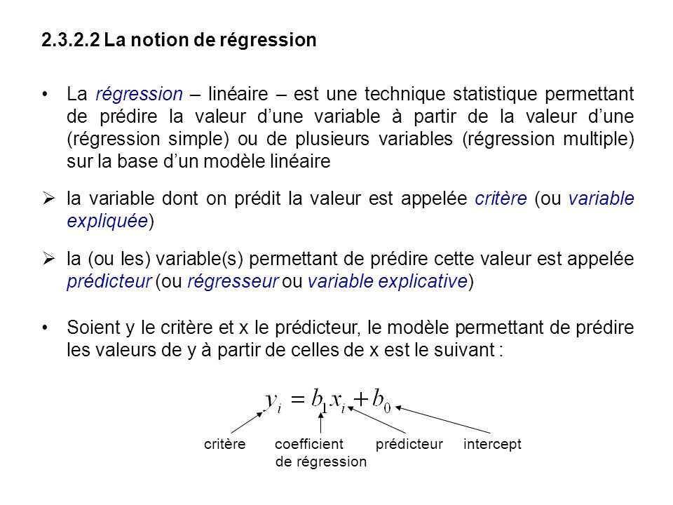 2.3.2.2 La notion de régression