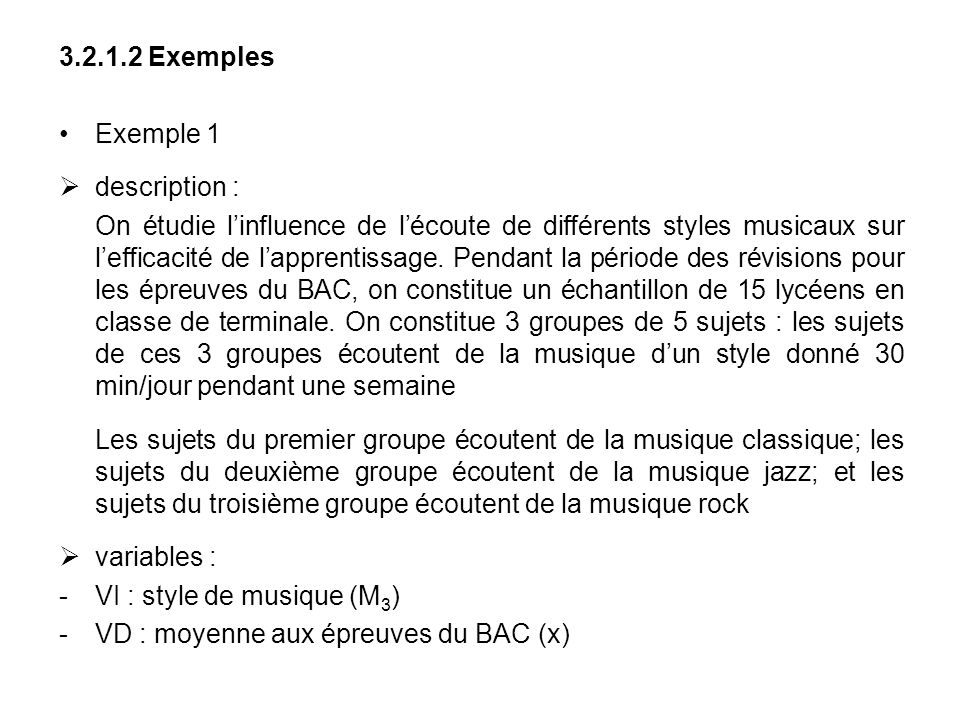 Exemples Exemple 1. description :