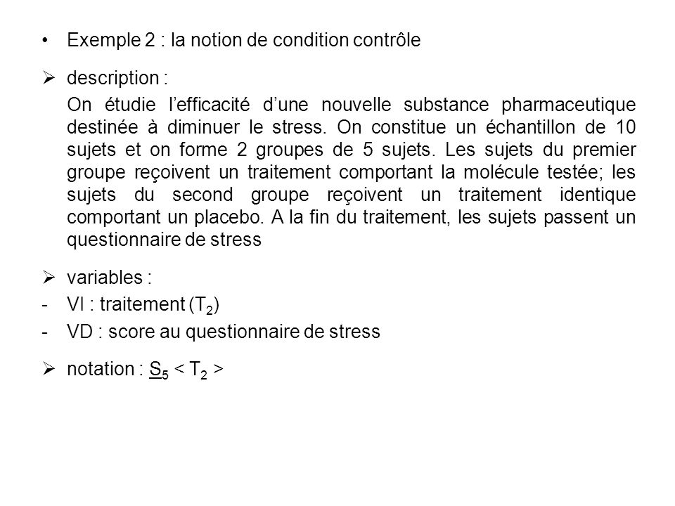 Exemple 2 : la notion de condition contrôle