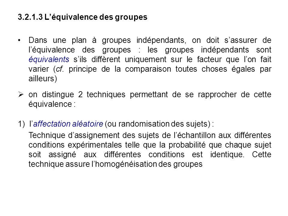 3.2.1.3 L'équivalence des groupes