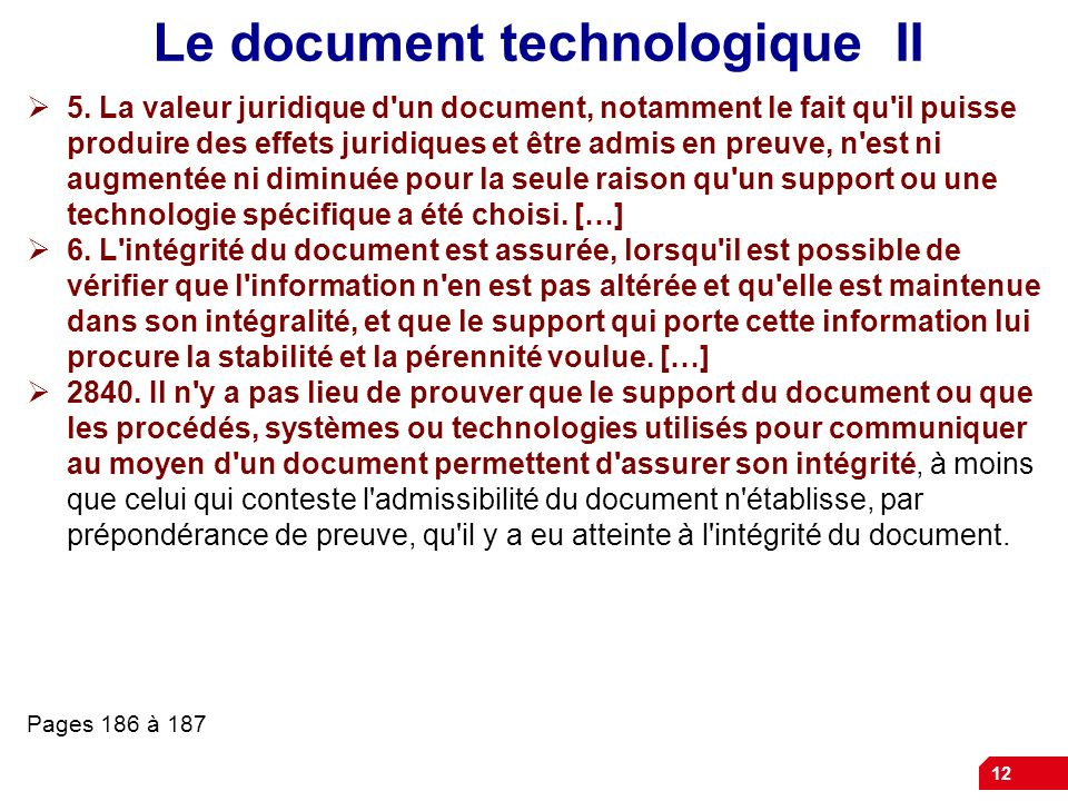 Le document technologique II