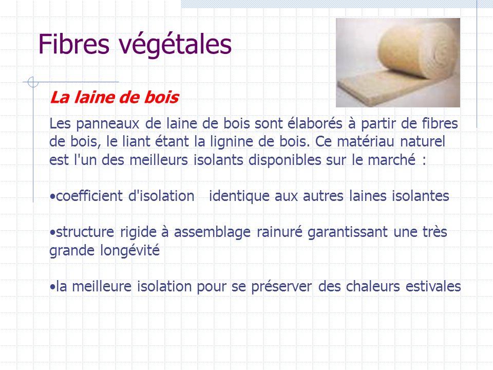 Fibres végétales La laine de bois