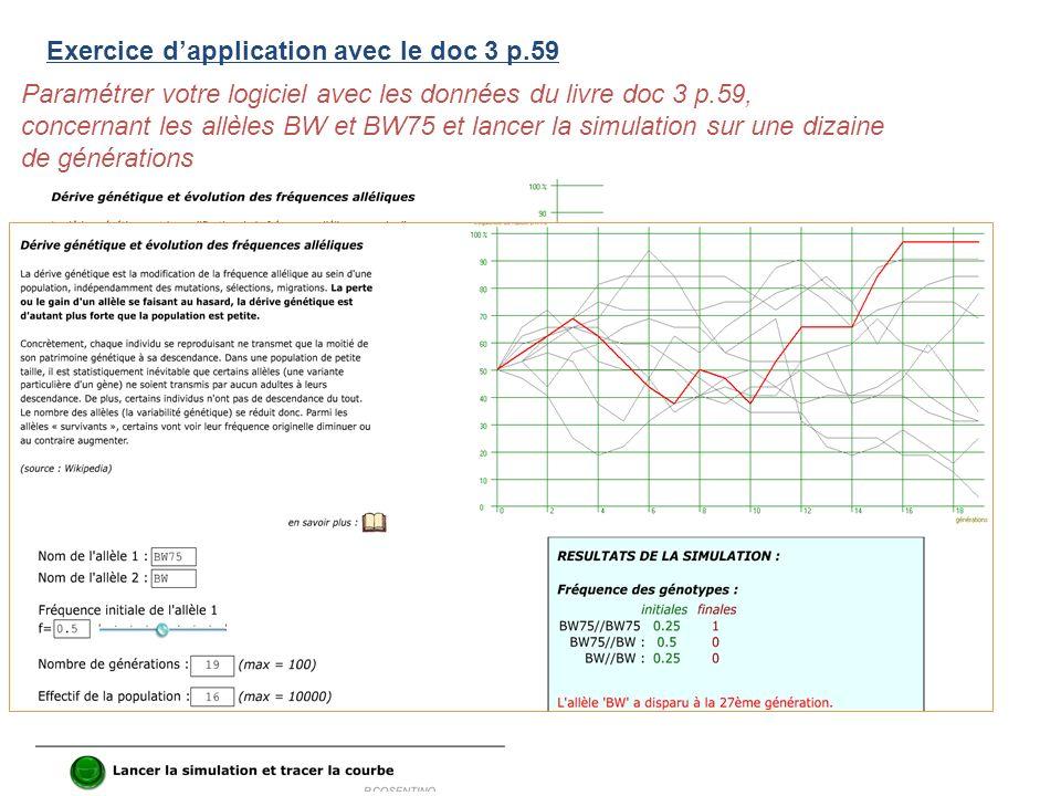Exercice d'application avec le doc 3 p.59