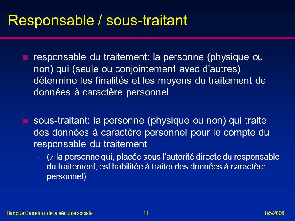 Responsable / sous-traitant