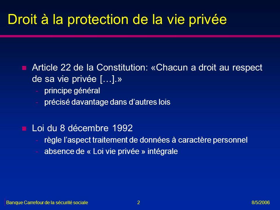 Droit à la protection de la vie privée