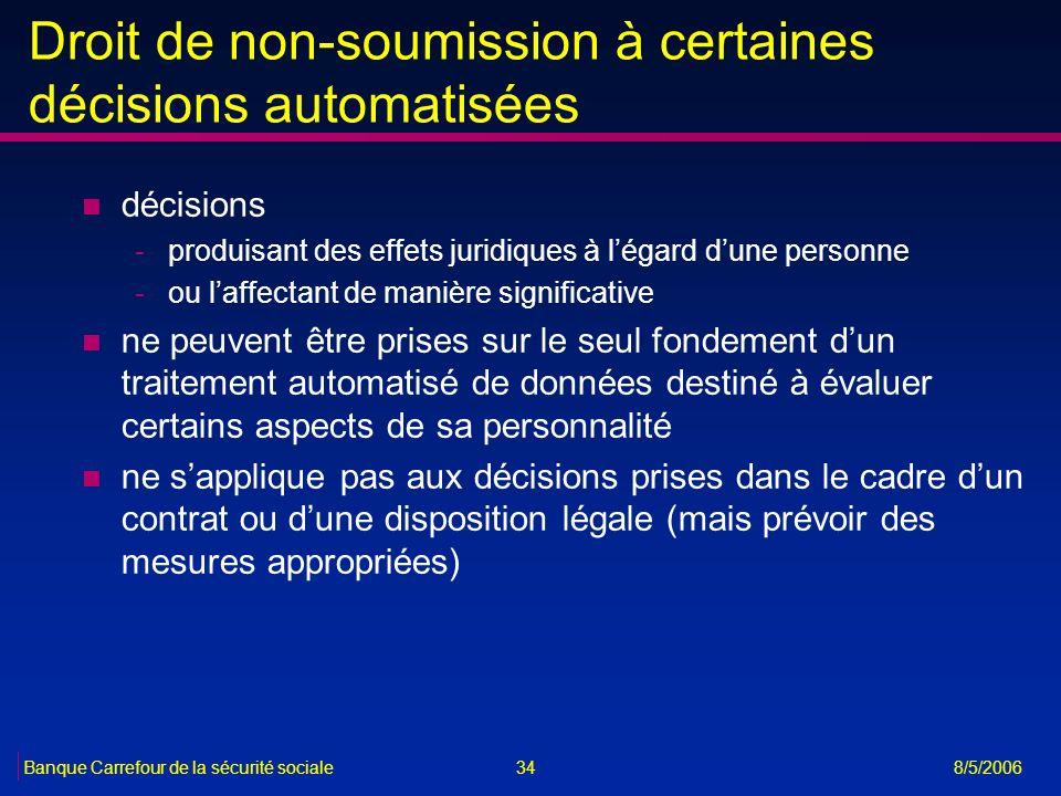 Droit de non-soumission à certaines décisions automatisées