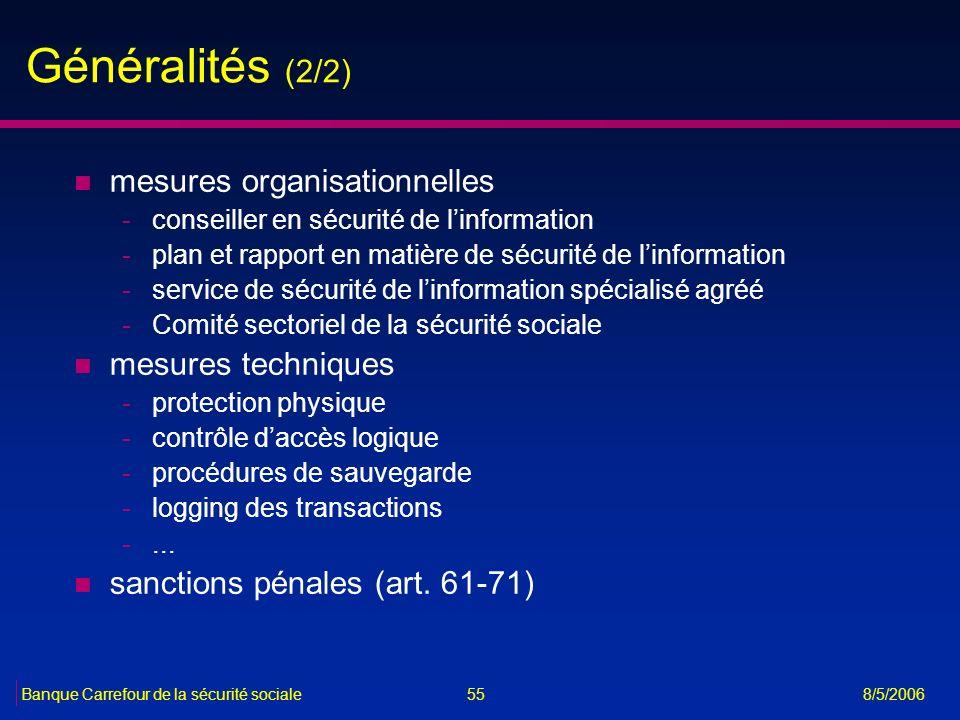 Généralités (2/2) mesures organisationnelles mesures techniques
