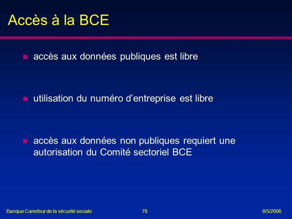 Accès à la BCE accès aux données publiques est libre