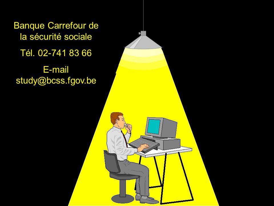 Banque Carrefour de la sécurité sociale Tél. 02-741 83 66