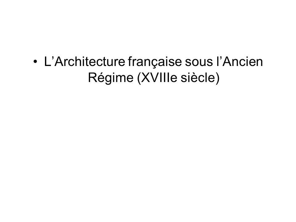L'Architecture française sous l'Ancien Régime (XVIIIe siècle)