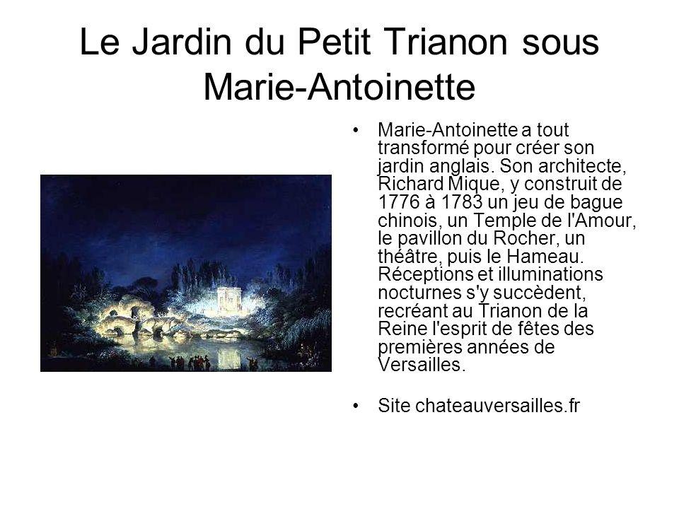 Le Jardin du Petit Trianon sous Marie-Antoinette