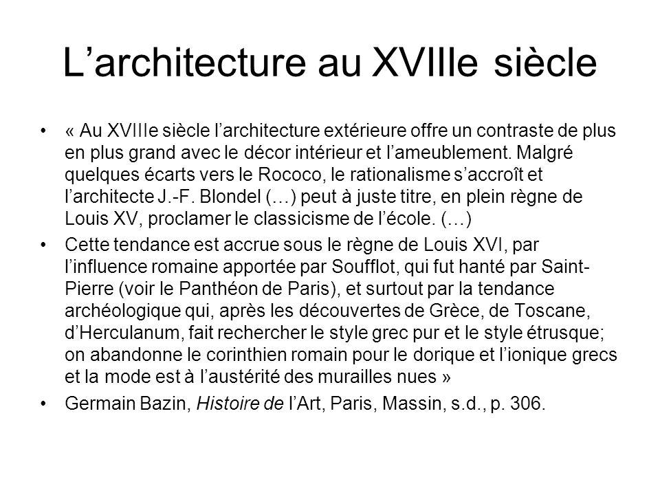 L'architecture au XVIIIe siècle