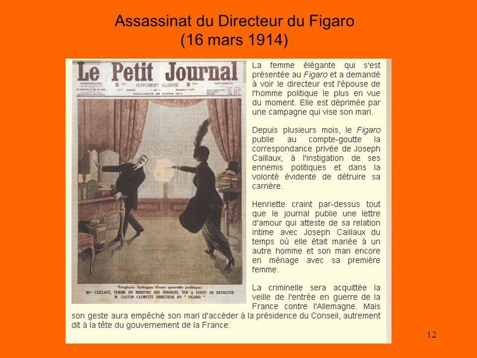 Assassinat du Directeur du Figaro (16 mars 1914)