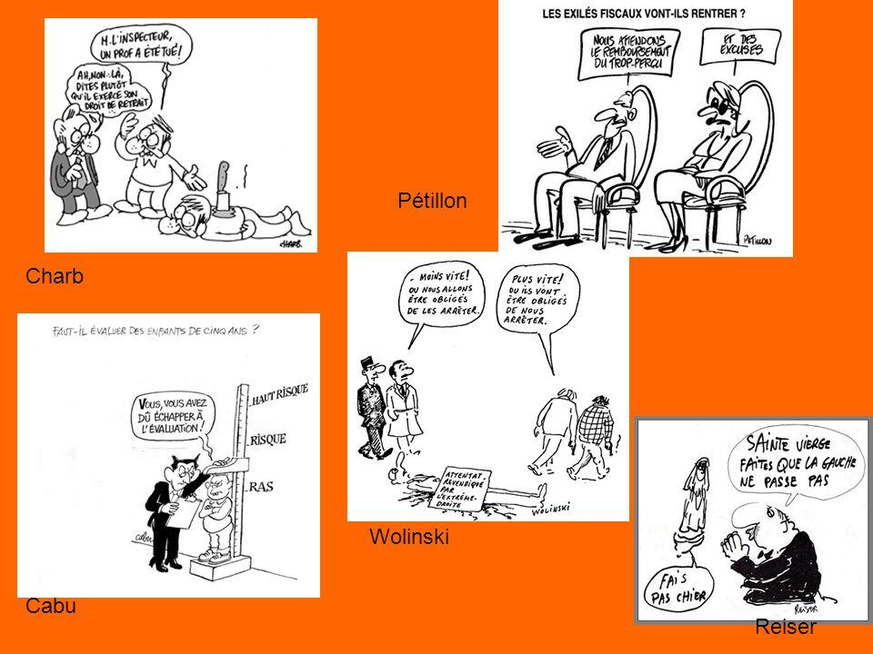 Pétillon Charb Wolinski Cabu Reiser