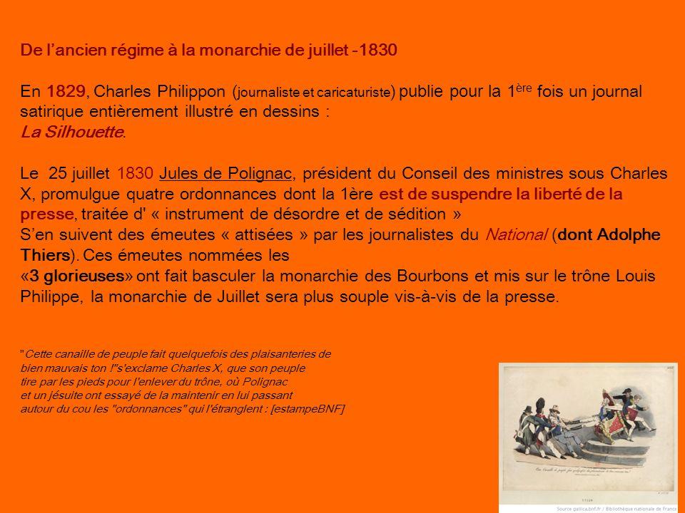 De l'ancien régime à la monarchie de juillet -1830