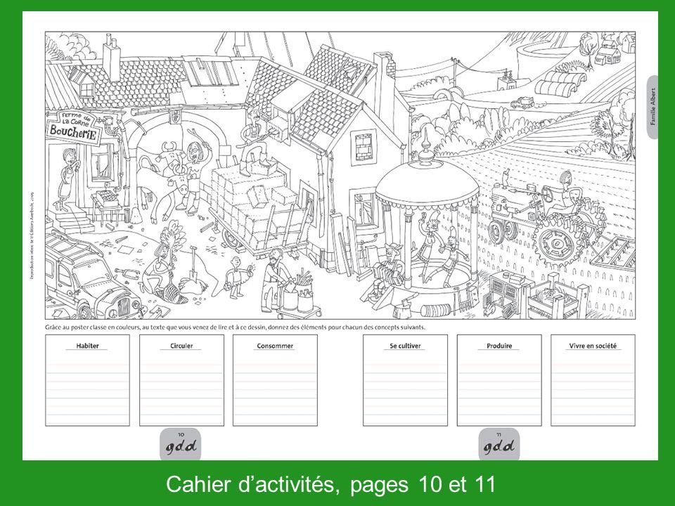 Cahier d'activités, pages 10 et 11