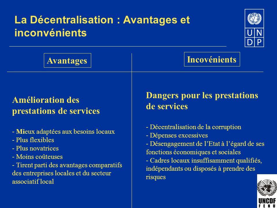 La Décentralisation : Avantages et inconvénients