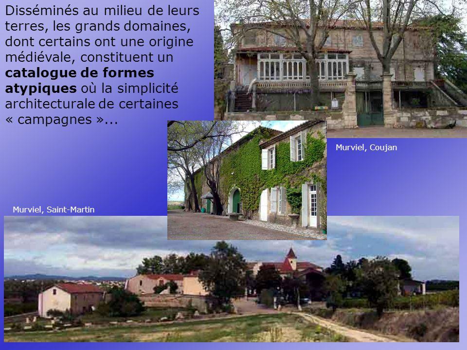 Disséminés au milieu de leurs terres, les grands domaines, dont certains ont une origine médiévale, constituent un catalogue de formes atypiques où la simplicité architecturale de certaines « campagnes »...