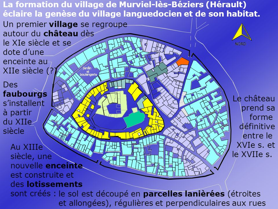 La formation du village de Murviel-lès-Béziers (Hérault)