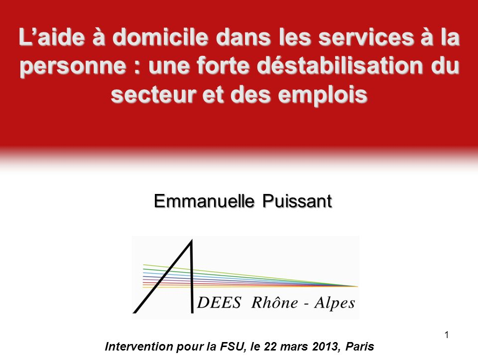 Intervention pour la FSU, le 22 mars 2013, Paris