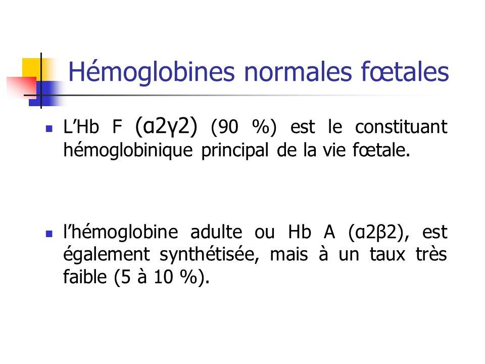 Hémoglobines normales fœtales